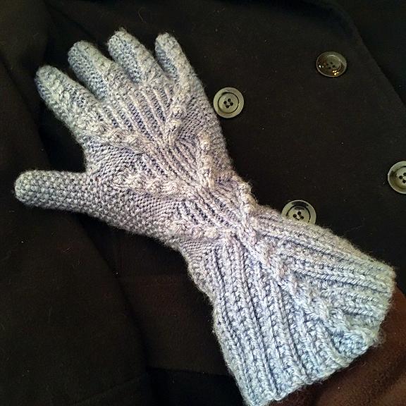 Slate Blue Sleigh-Ride Gloves © Denise Ortakales
