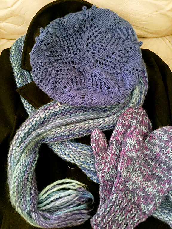Beret, Scarf & Double-Thick Mittens © Denise Ortakales