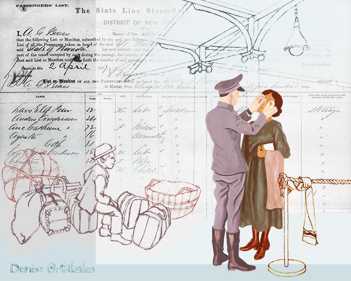 Ellis Island Physical © Denise Ortakales