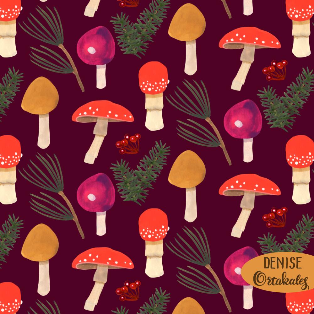 Holiday Mushrooms © Denise Ortakales