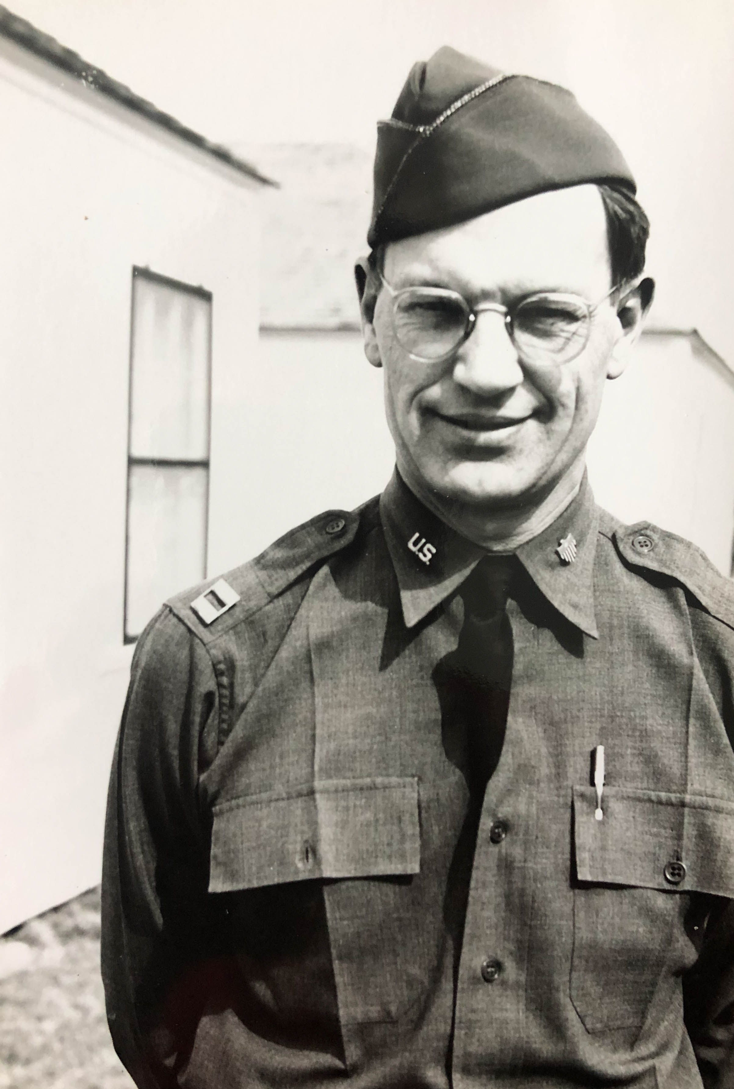 Freeman Macomber in uniform