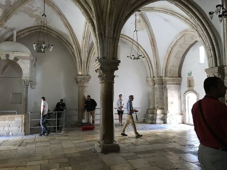 The Cenacle, or Upper Room of the Last Supper and the outpouring of the Holy Spirit.