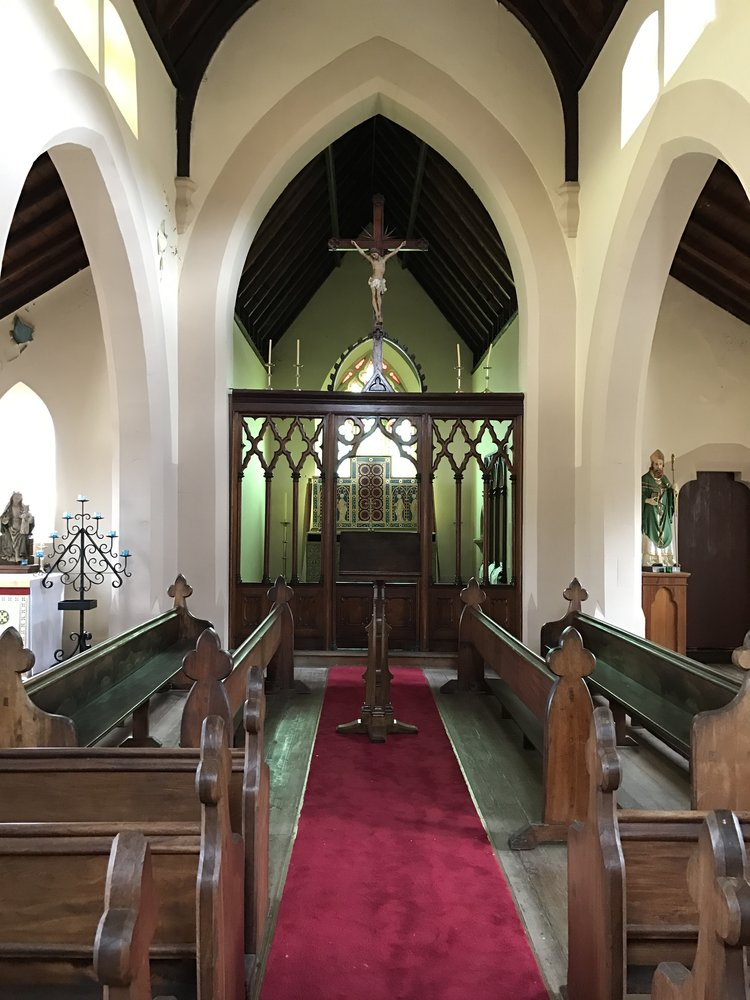 St Patrick's Church in Colebrook making ready for Foundation Day.
