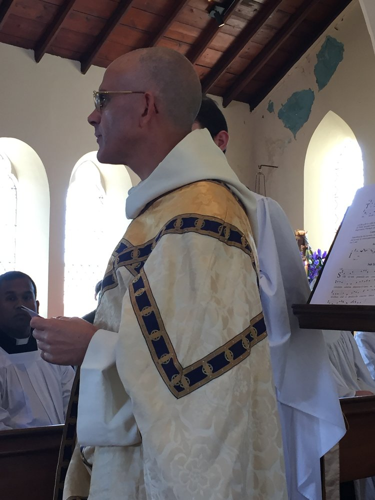 Fr Prior expresses thanks at the end of the Mass.