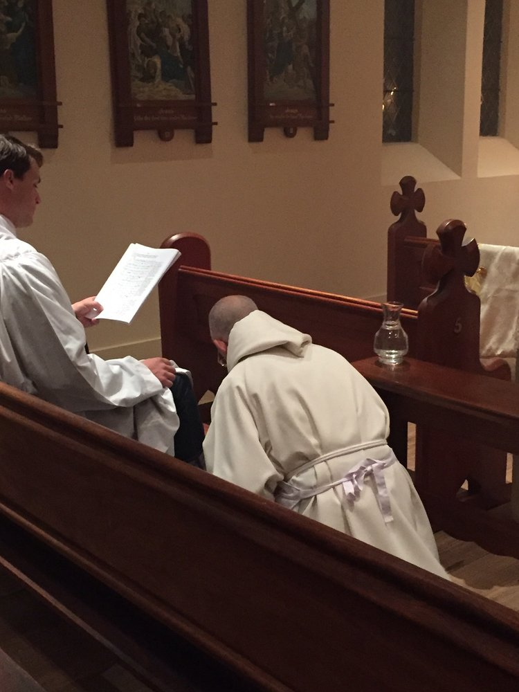 Fr Prior washes the feet
