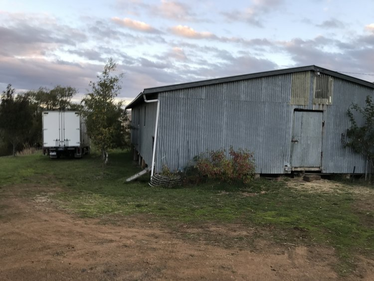"""The shearing shed, also known as """"pop-up priory"""""""