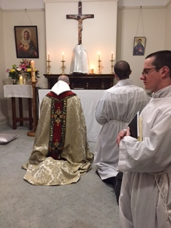 Consecration ceremony in the small priory chapel.