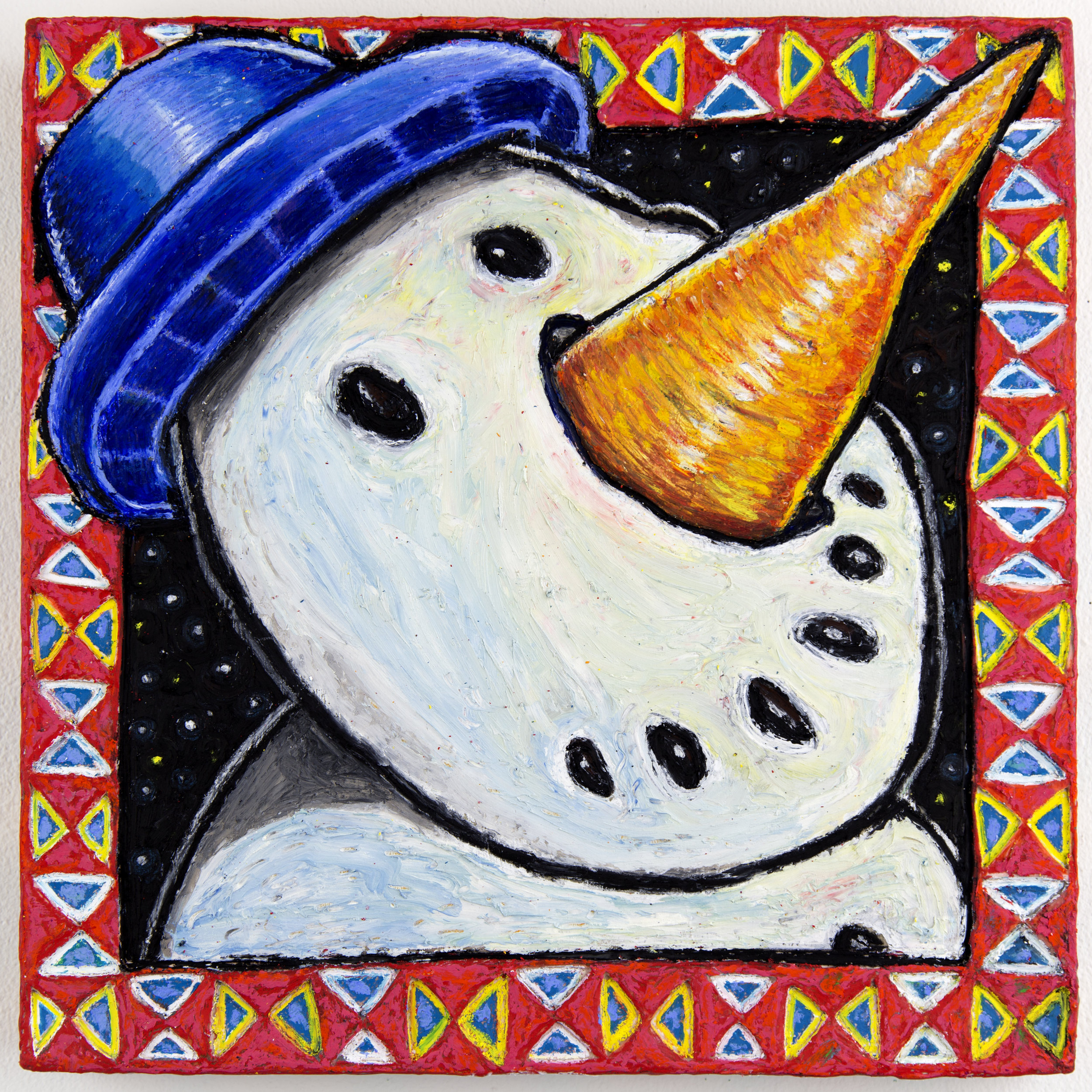 Frosty with Arabesque boarder