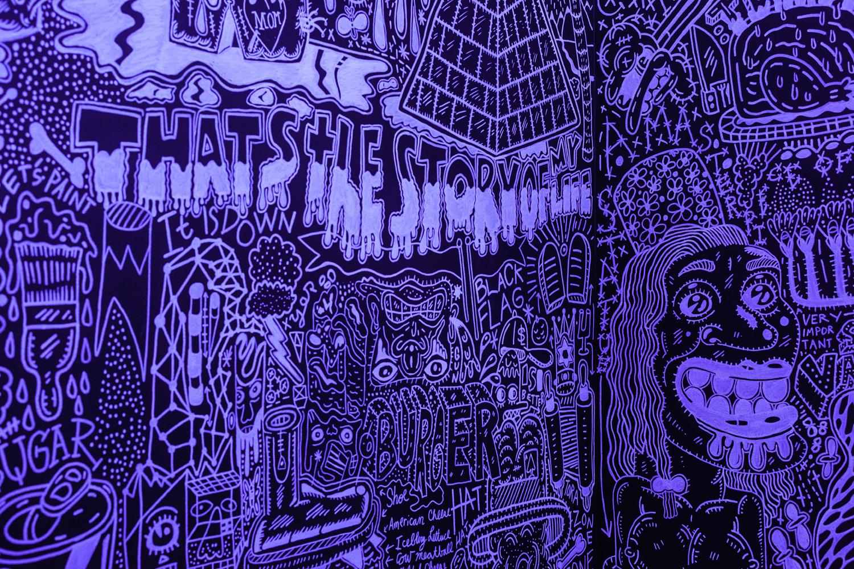 (Detail) Black Room/White Lines
