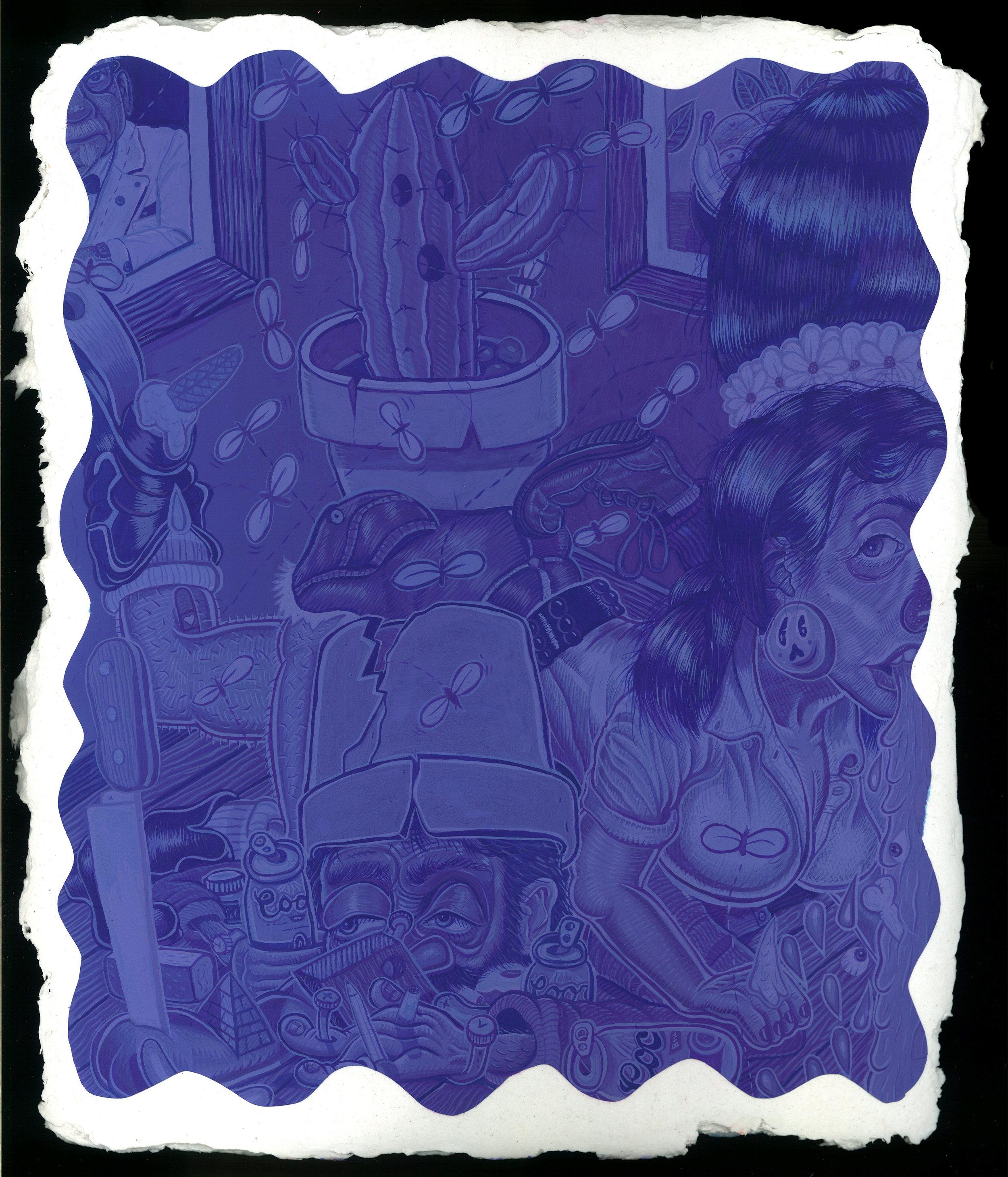 The Cactus (Blue Violet)