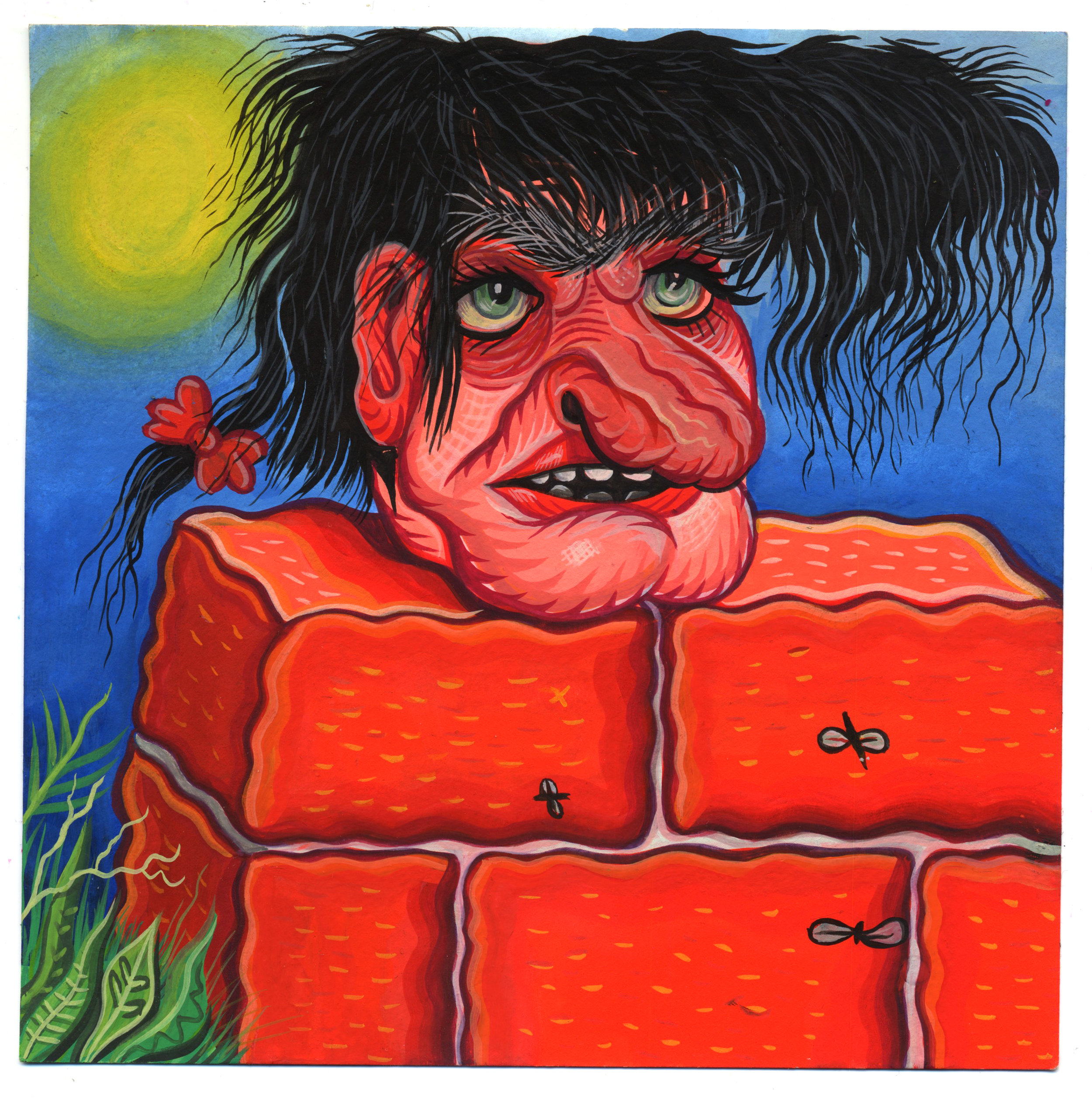 """""""Gothic Head On A Brick Wall"""""""
