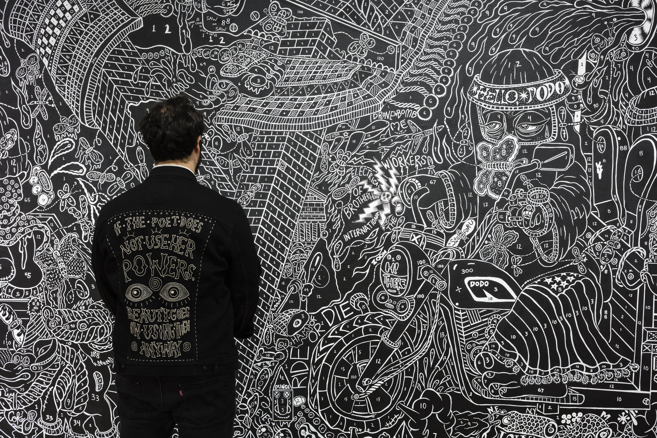 Denim Jacket with mural