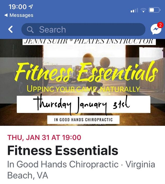 "Join me this Thursday night 7:00 pm at ""In Good Hands Chiropractic"" I'm teaching an oil's class on health and fitness and I would love to see you all there #essentialoils #fitness #Pilates #fitmommies"