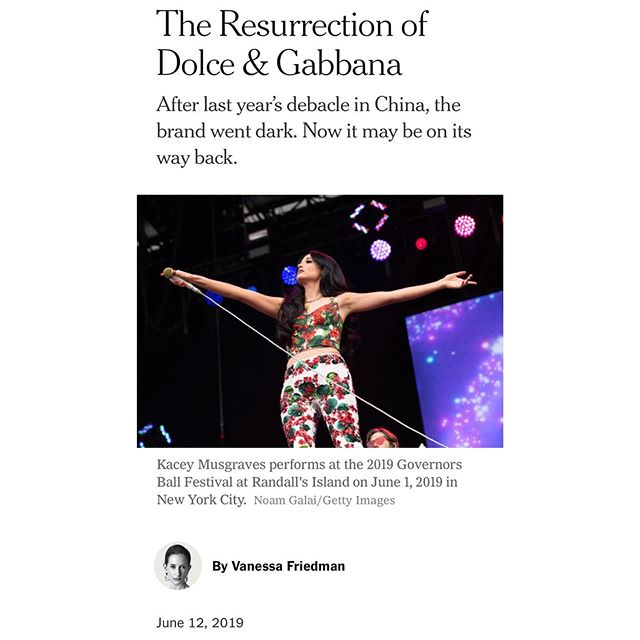 "D&G's history of racism, bigotry, and Stefano's particular brand of social media antagonism has proven to be the largest threat to their Chinese market... a consumer base that for starters, probably doesn't care about the Tony Awards or Kacey Musgraves' festival outfits. @nytimesfashion 's thinly veiled declaration seems to selectively ignore that and other key market factors. ⠀⠀⠀⠀⠀⠀⠀⠀⠀ Accounting for 1/3 of the $1 trillion worldwide luxury market, it's a number not to be ignored when basically fueling a brand's ""comeback"". While the Chinese are still spending abroad, decreased tariffs and price harmonization on luxury imports are enabling increased domestic spending. In a 2018 study by Bain & Co., Chinese consumers were found to have made 27% of their luxury purchases in China, with an estimated increase up to 50% by 2025. They also found that the covetable millennial and Gen-Z demographic would grow to 46% of that spend by that same year, the latter of whom view consumption as ""an expression of individual identity and a matter of ethical concern"", according to a 2018 McKinsey study. 80% of them also refuse to purchase from companies involved in scandals. Considering D&G was also rumored to launch beauty in China this year, these numbers would make any executive wince. ⠀⠀⠀⠀⠀⠀⠀⠀⠀ With the hyper cognition of the digitally-native Gen-Z market, can D&G really weather this fury? ""Short attention spans"" in the age of social media are a reality, but racism isn't something petty to be forgotten, especially in a country known for its nationalism. The NYT legitimately musing this undermines the dignity and ethics of some of the world's most sophisticated luxury shoppers and the greater Chinese population abroad. ⠀⠀⠀⠀⠀⠀⠀⠀⠀ It's easy to see why D&G, at least in China, may not have the sunniest of prospects. Despite recent appearances on US celebrities, no notable Chinese celebrities have worn them. During our recent trip to Shanghai, their shops in the luxury malls we visited were still barren.  So, whose reality does the NYT article actually depict? Friedman more or less writes the typical white-centric narrative around an issue that's actually global. Go figure..."