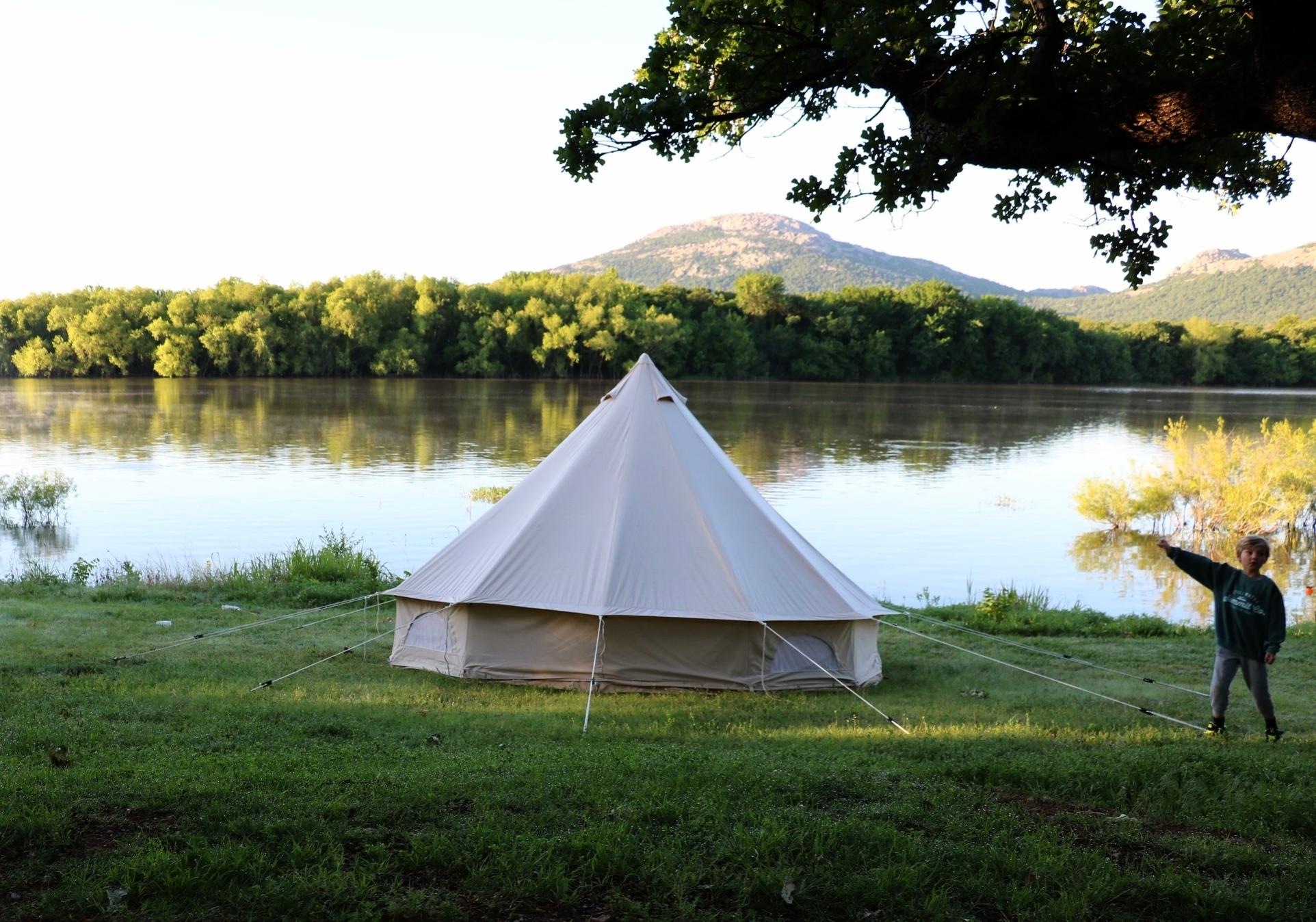 Camping at Robinson's Landing on Lake Lawtonka