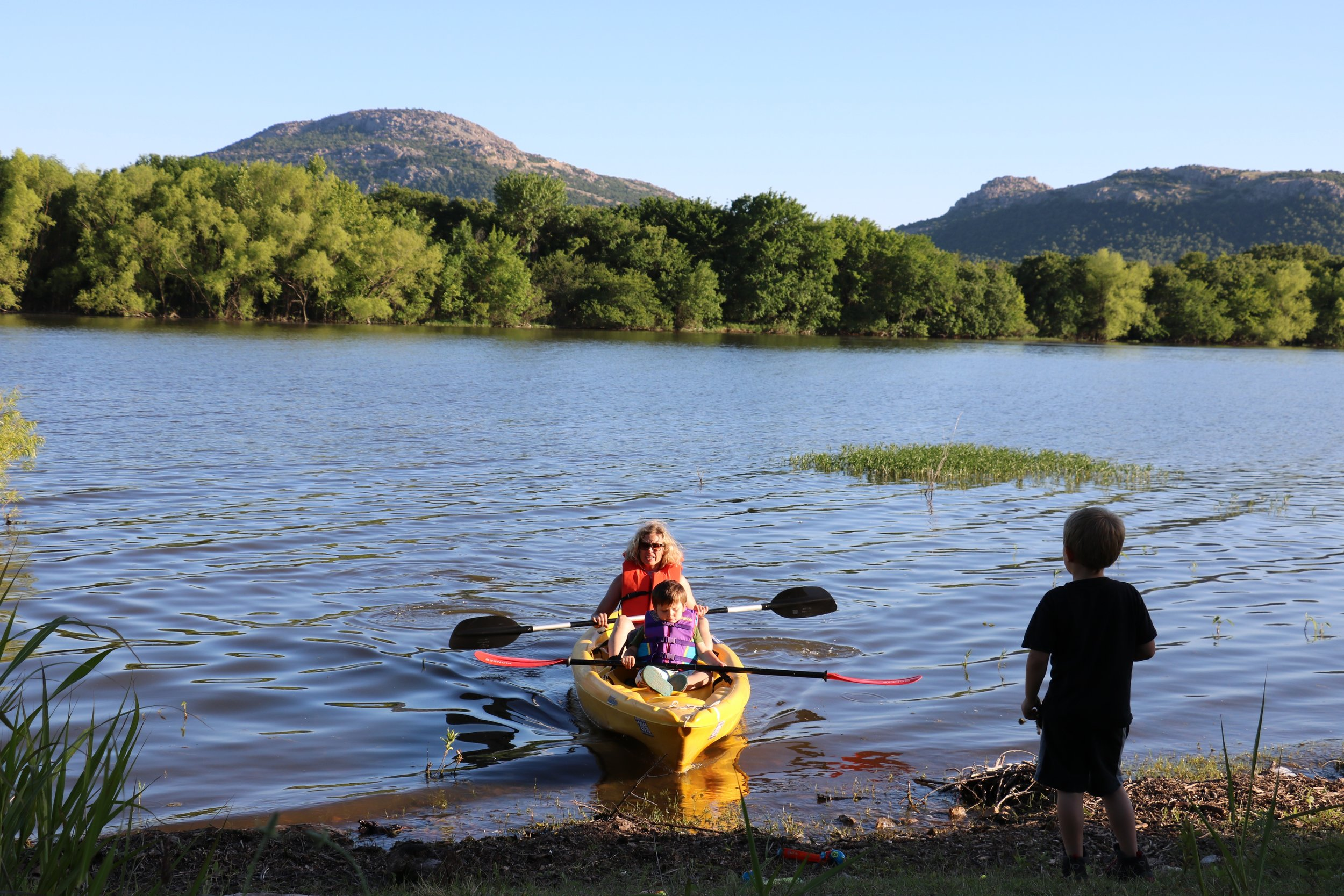 Kayak rentals are available at Robinson's Landing general store.