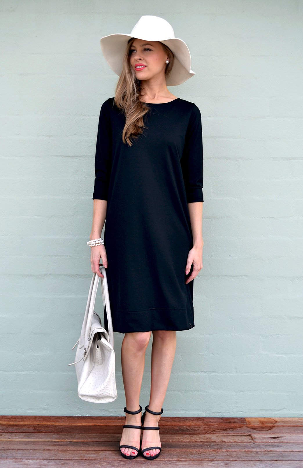 The Audrey Dress in black- also available in other colours. Shop the look  here