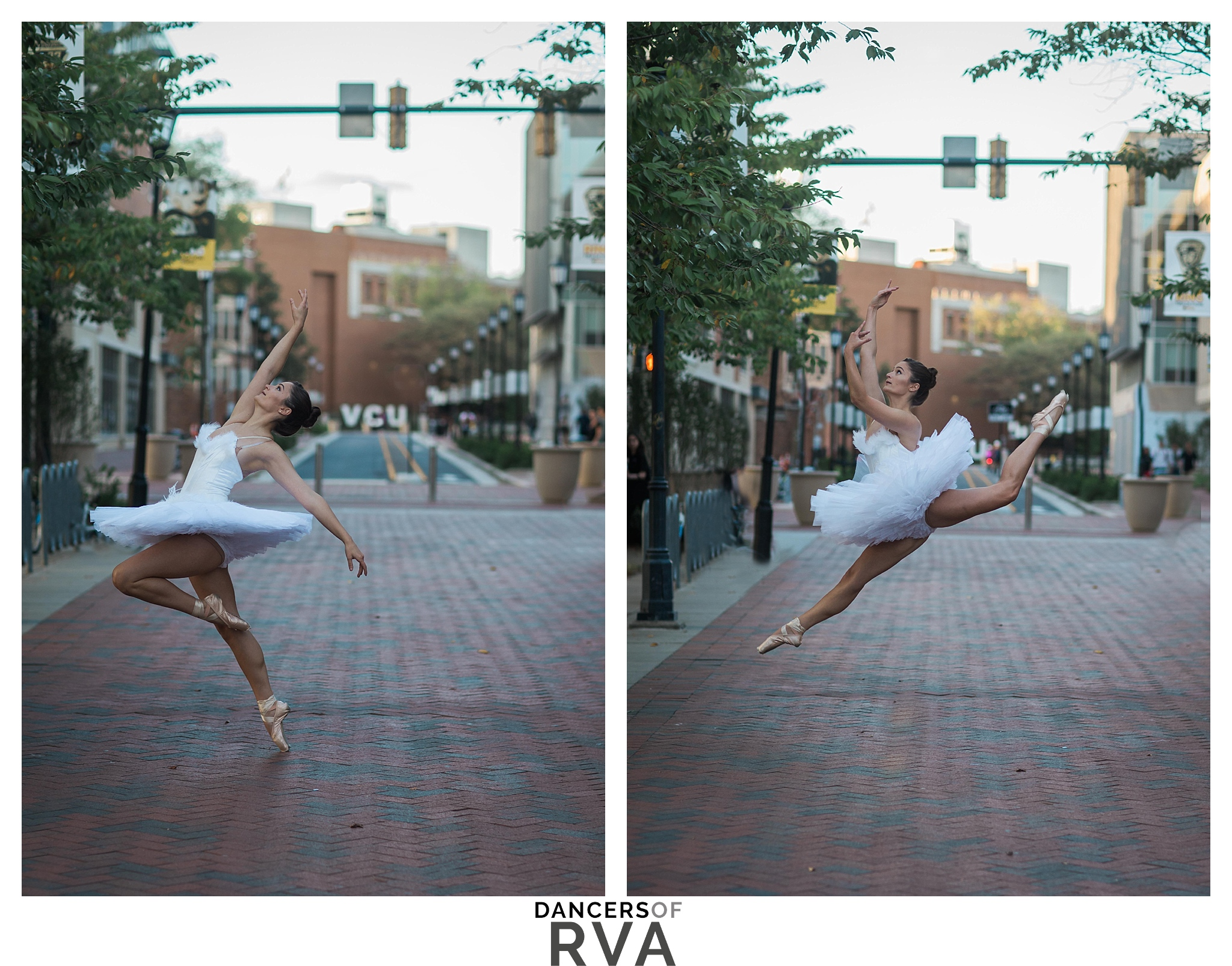 Dancer in front of VCU sign Dance Photo Shoot Dance session Richmond Dancer