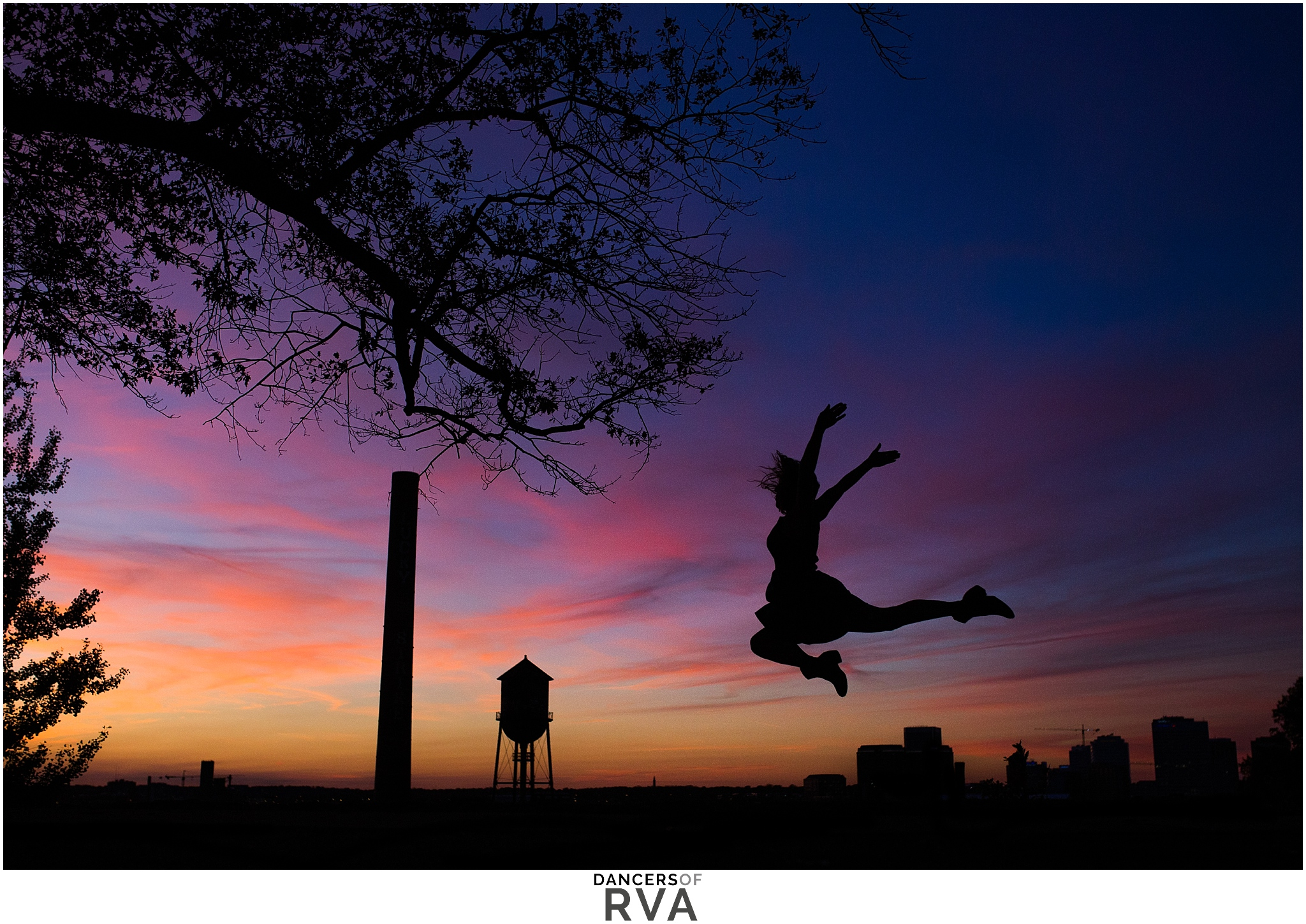Libby Hill Dance Silhouette Sunset Session