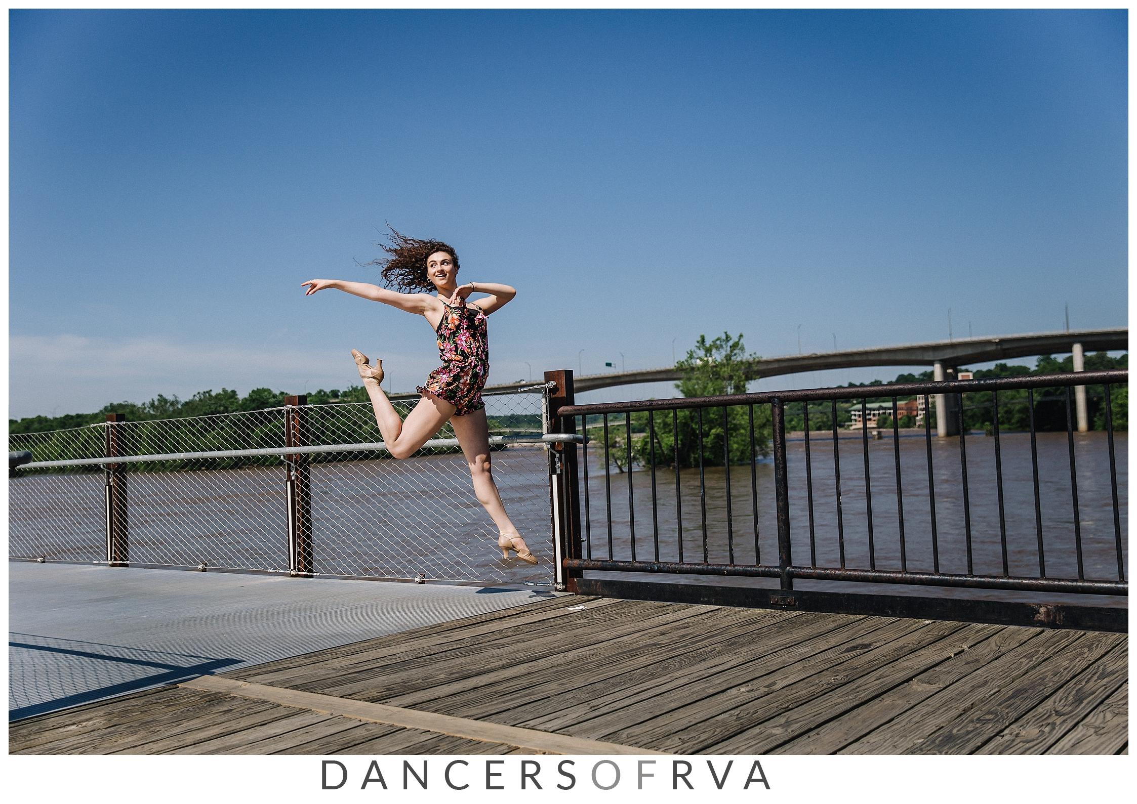 Dancer at the T. Tyler Potterfield Memorial Bridge Dancers of RVA Dance Project