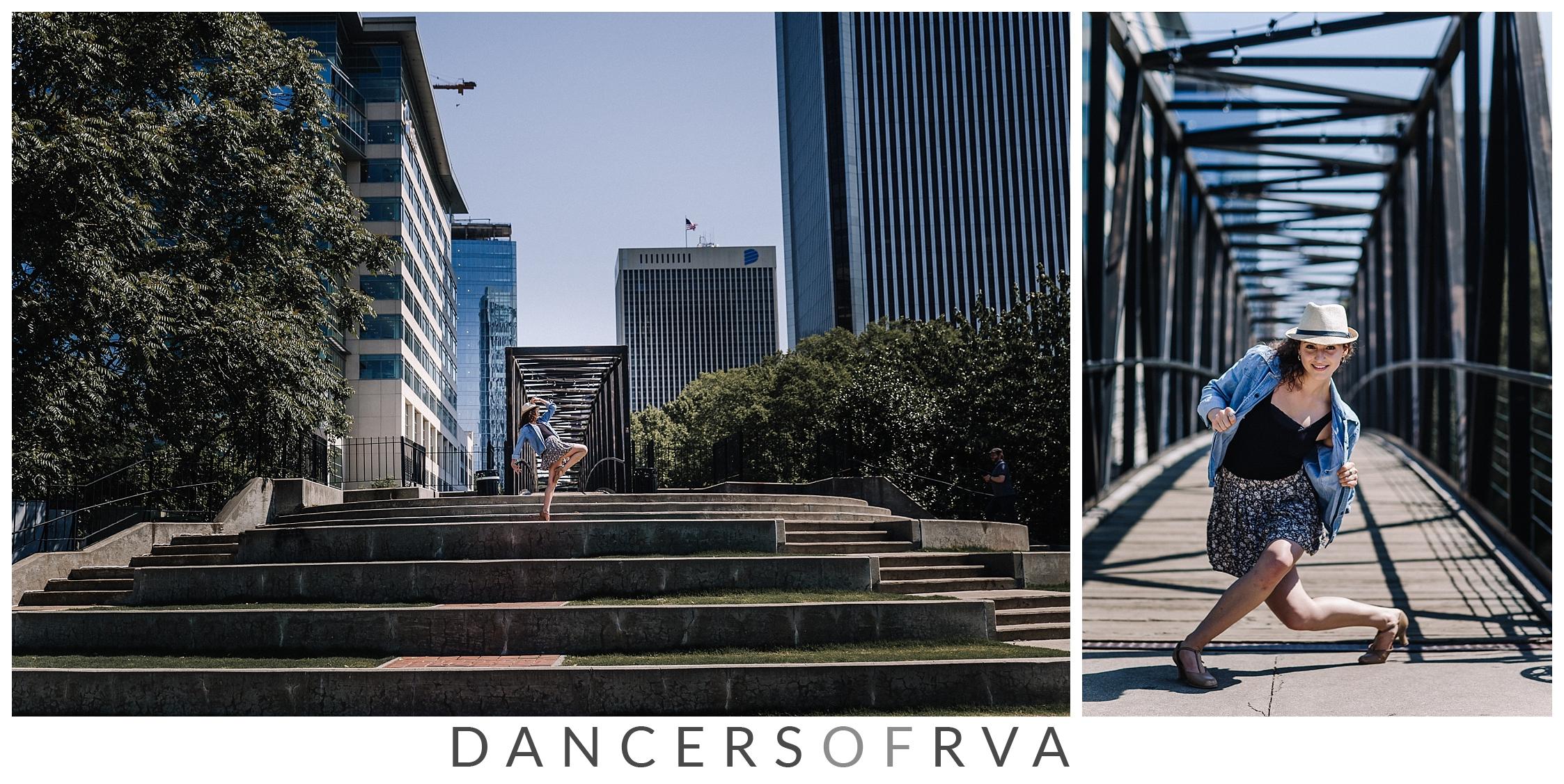 Dancer in Richmond VA Canal Walk Photo Session Dance Photographer
