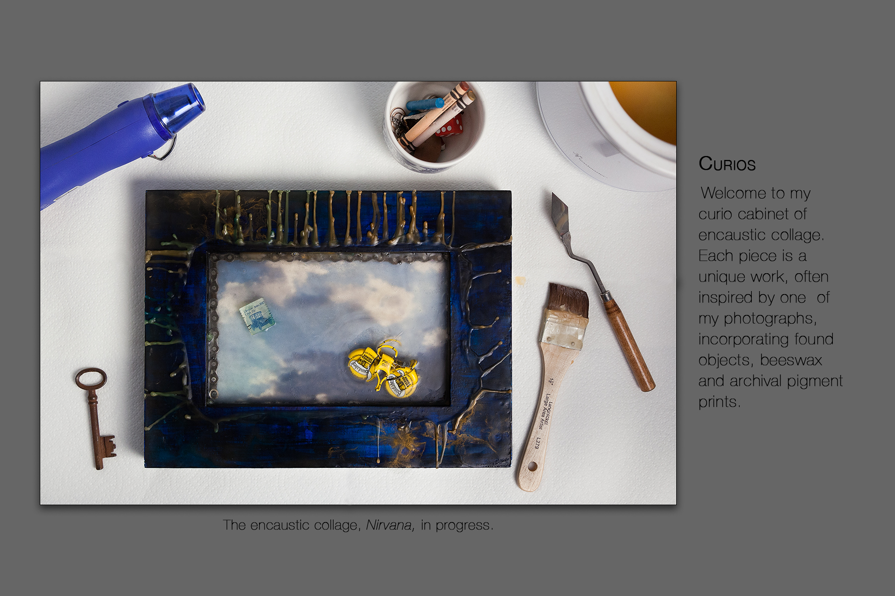 Curios | Encaustic Collage