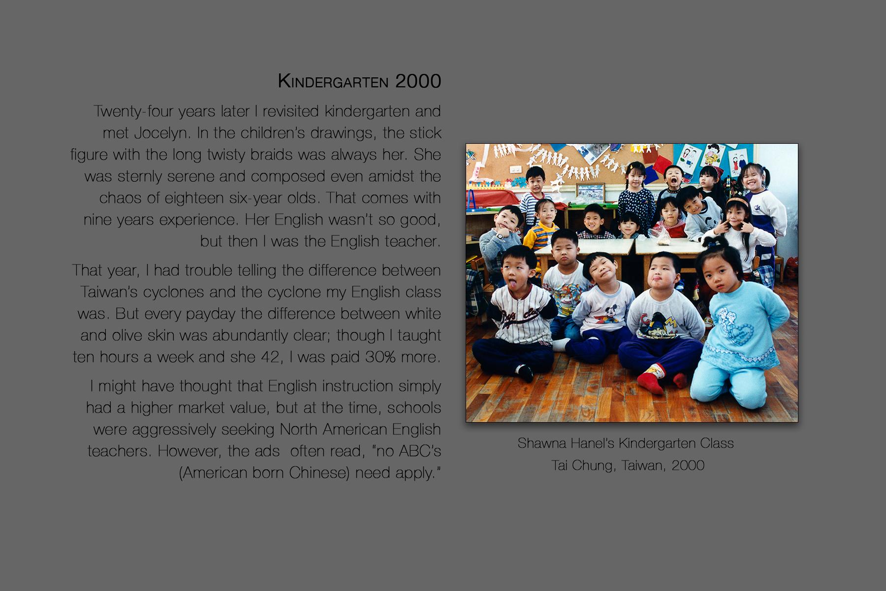 Shawna Hanel's Kindergarten Class, Tai Chung, Taiwan, 2000