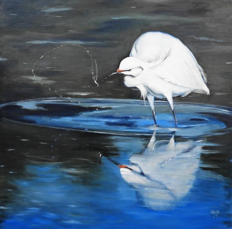 White Bird and Bug.JPG