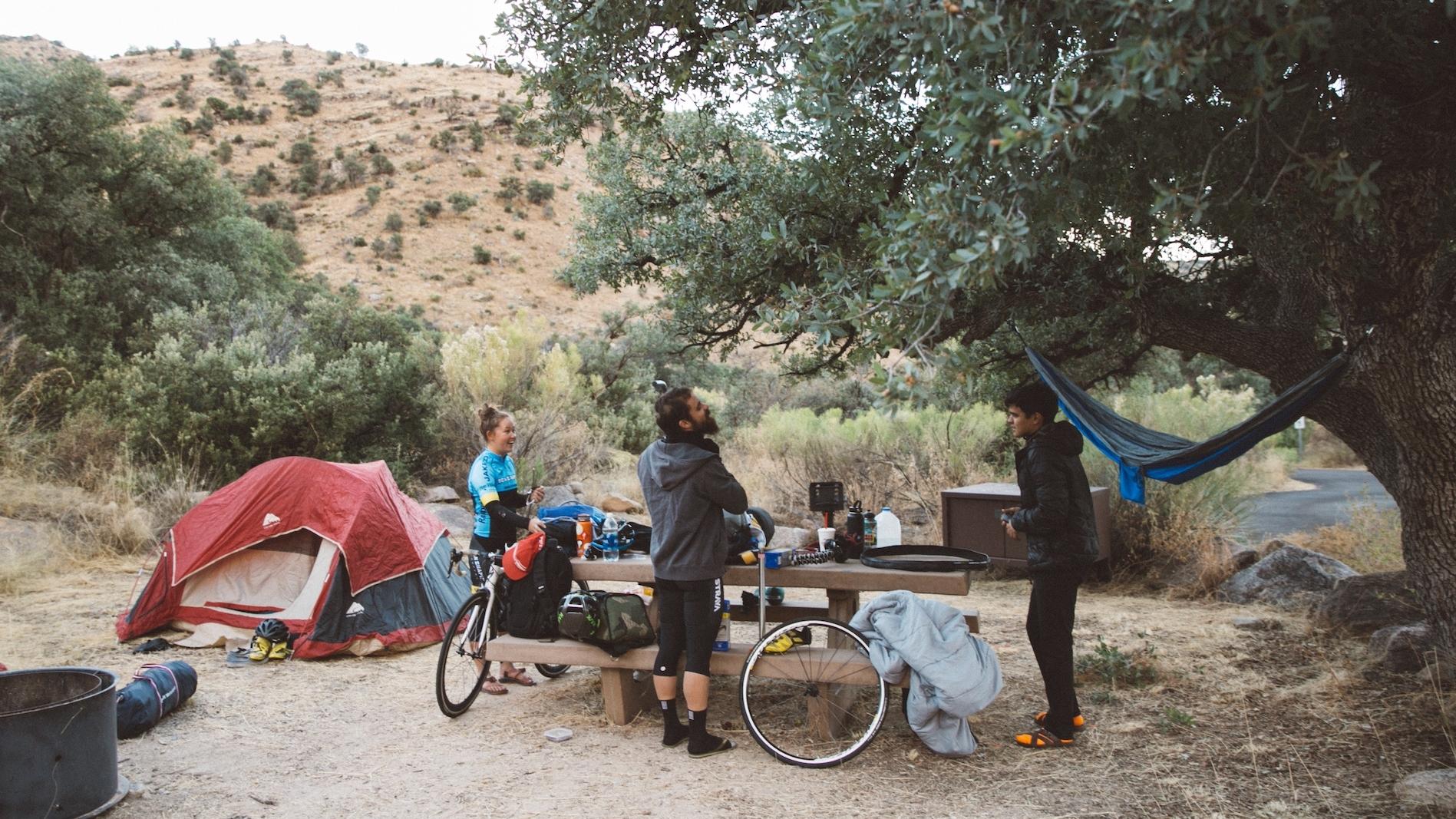 Morning campsite Mt Lemmon