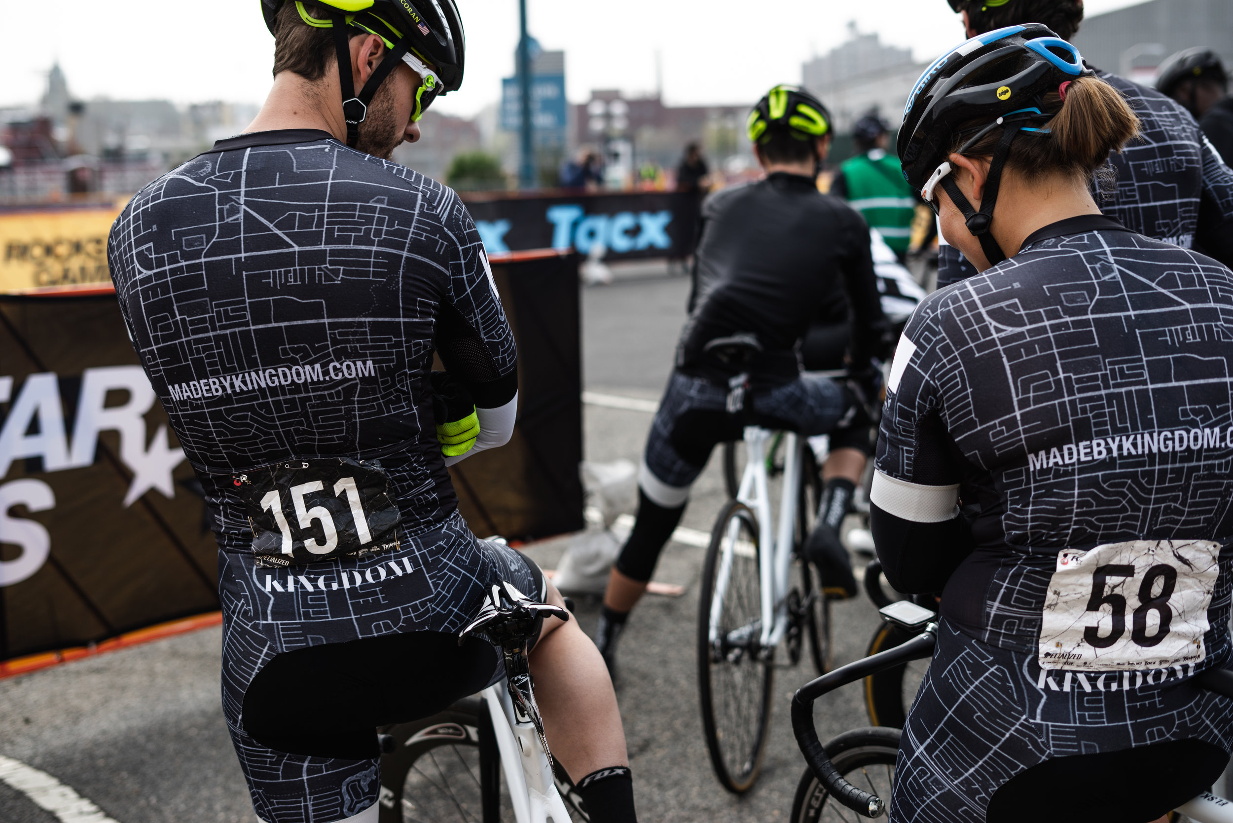 Team Kingdom heading out to warm up at Red Hook Crit Brooklyn No. 11