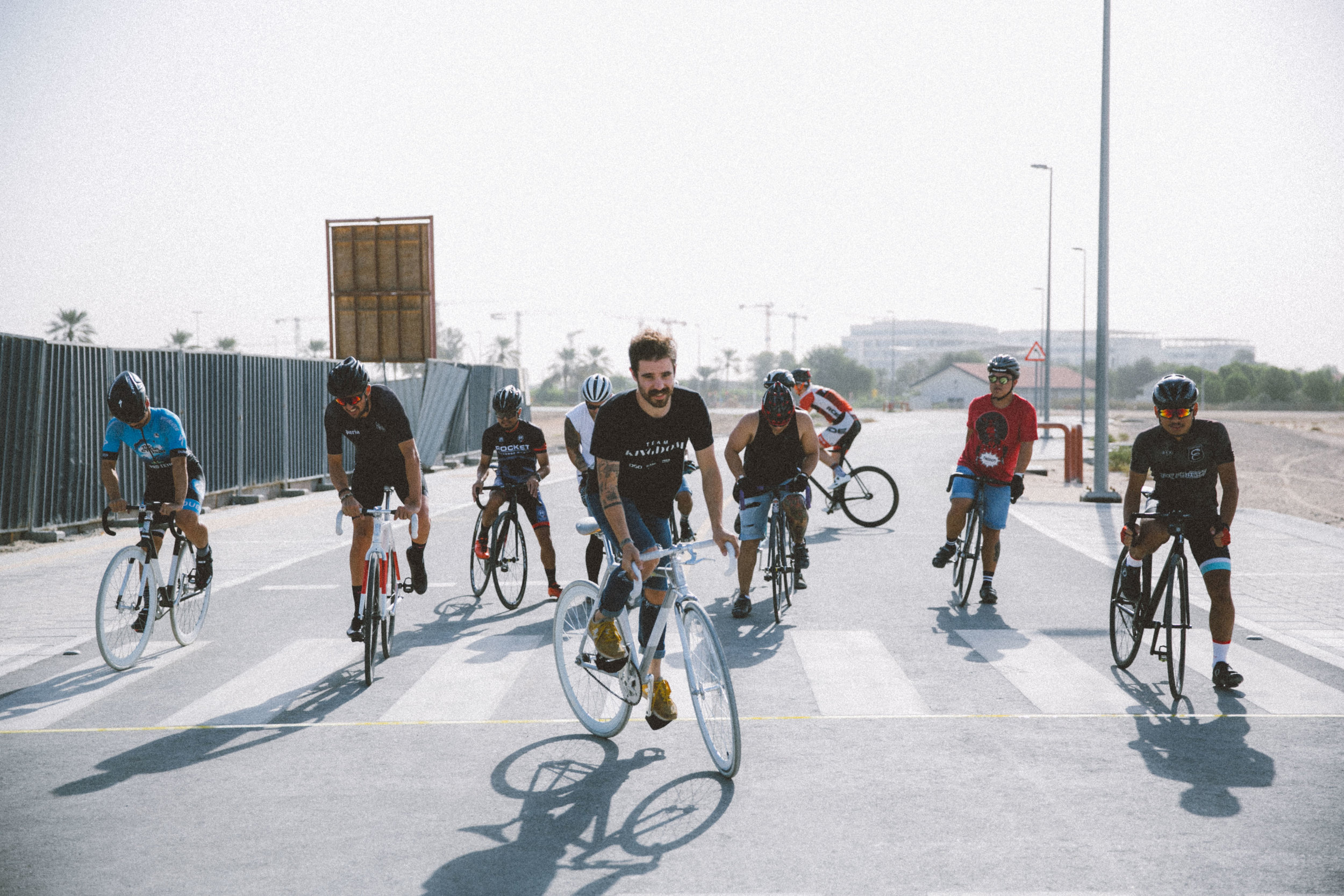 Mens race safety lap Kingdom Crit Dubai