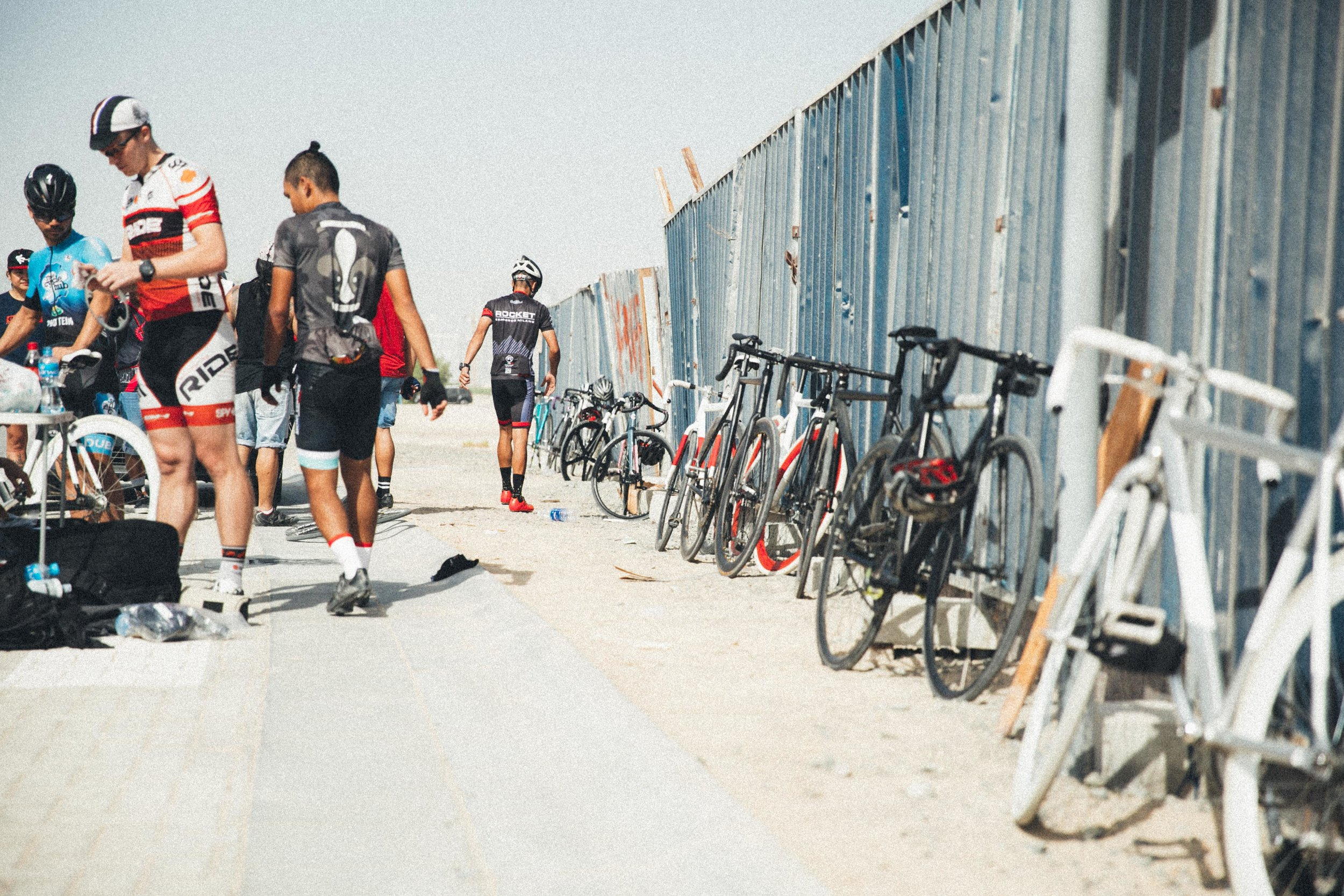 Bikes and construction Kingdom Crit Dubai