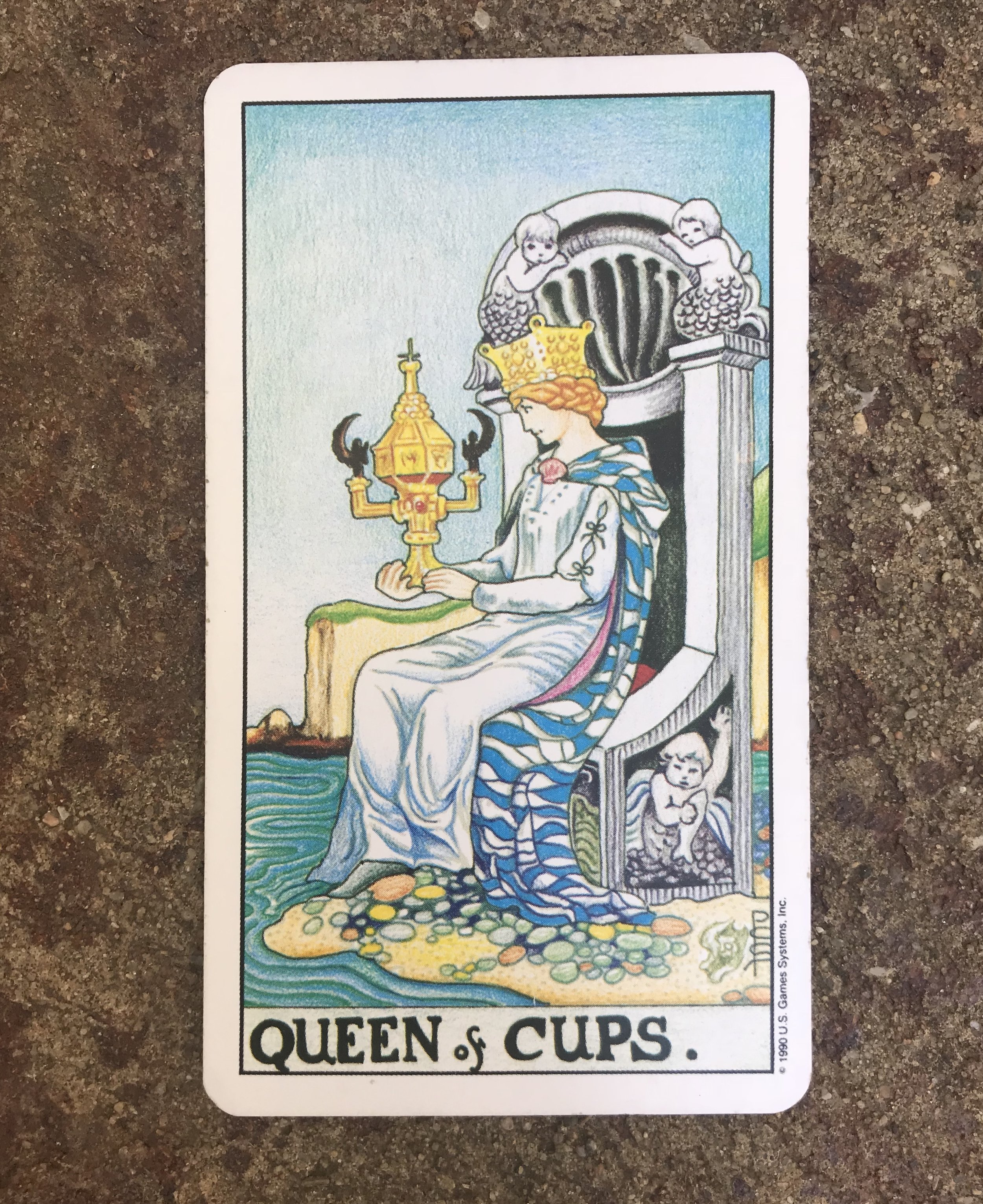 Queen of Cups from the Universal Waite Tarot