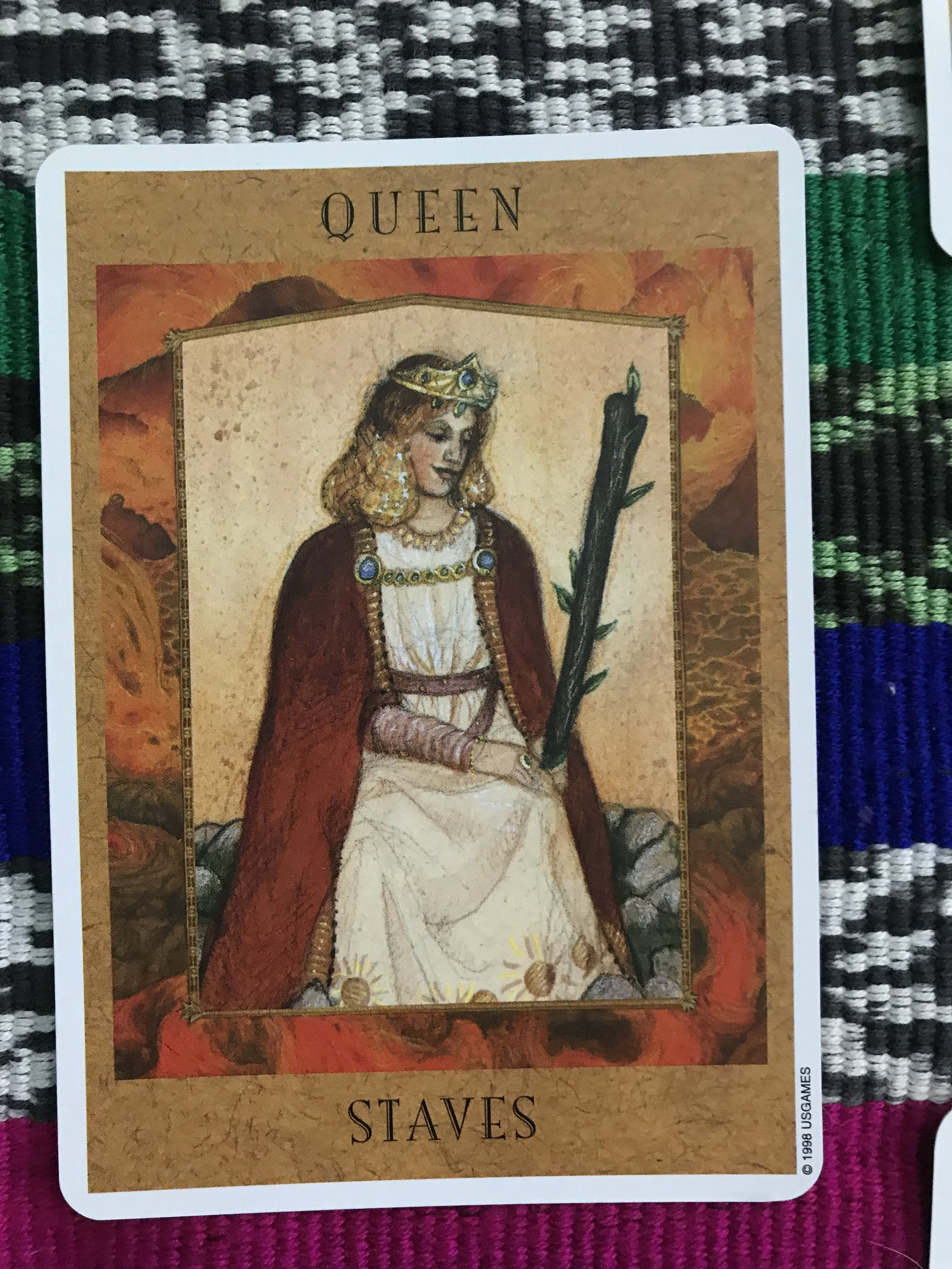 Queen of Staves from The Goddess Tarot