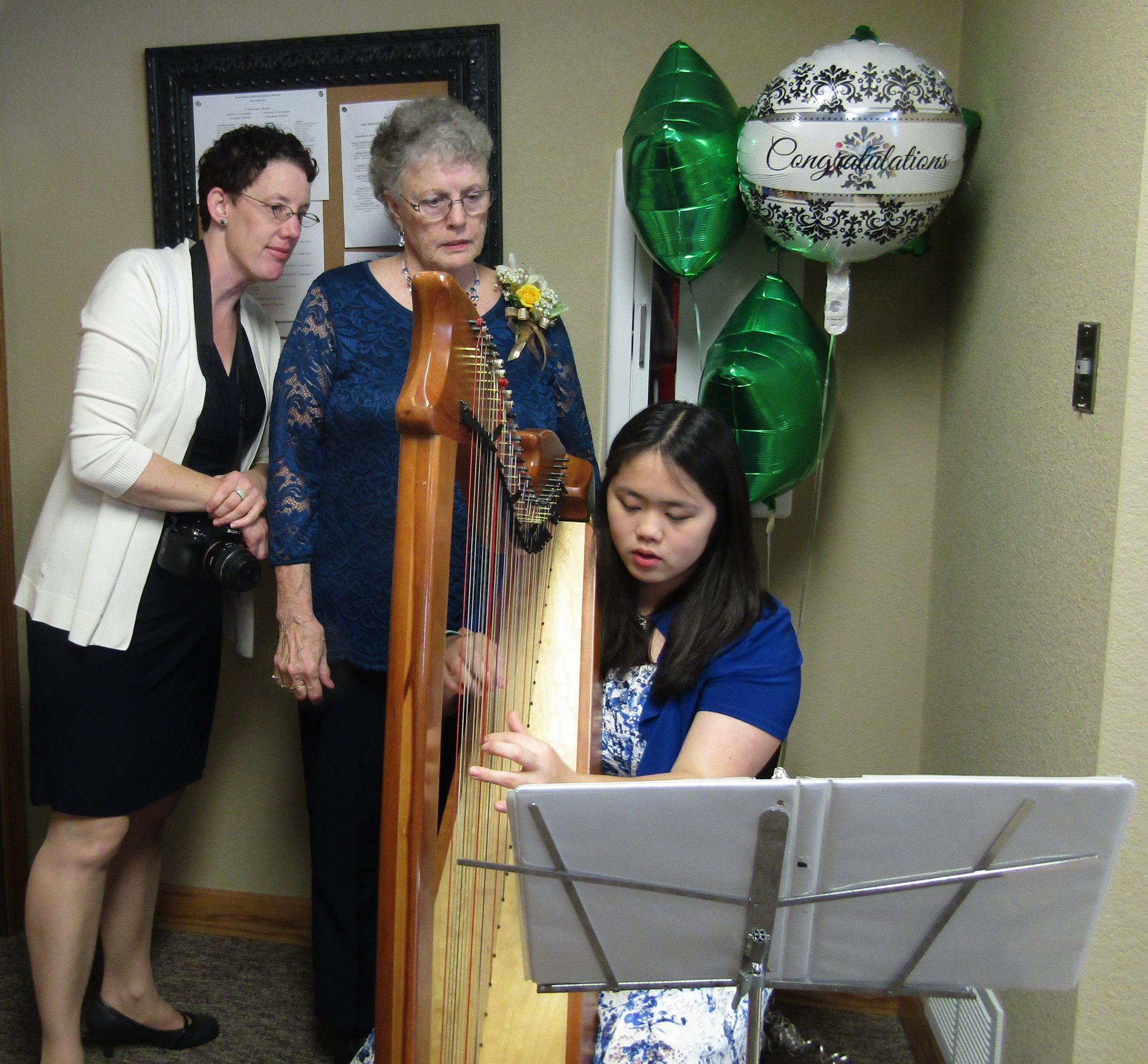 Playing Irish songs for a 50th wedding anniversary.
