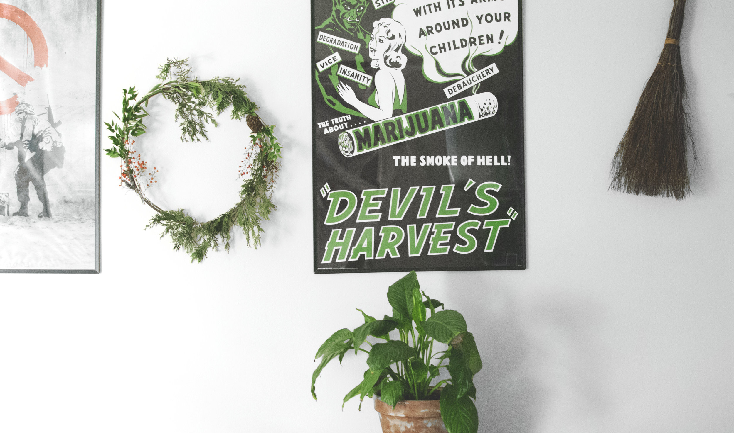 This homemade wreath brings so much magic to my living space!