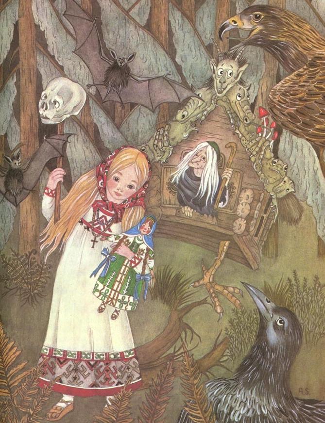 Vasilisa the Beautiful |Illustration by by Adrienne Segur