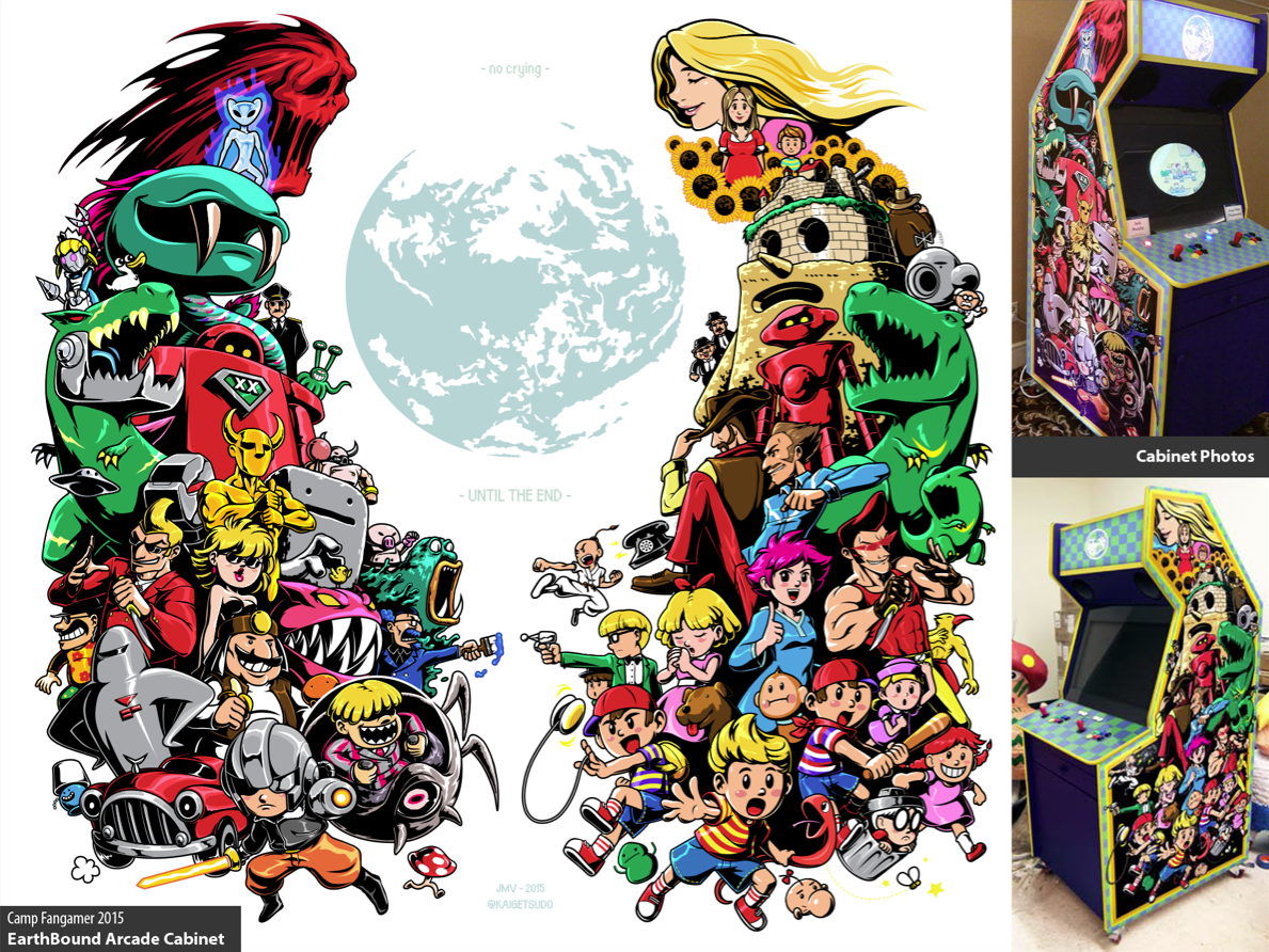 EarthBound Arcade Cabinet Side Art