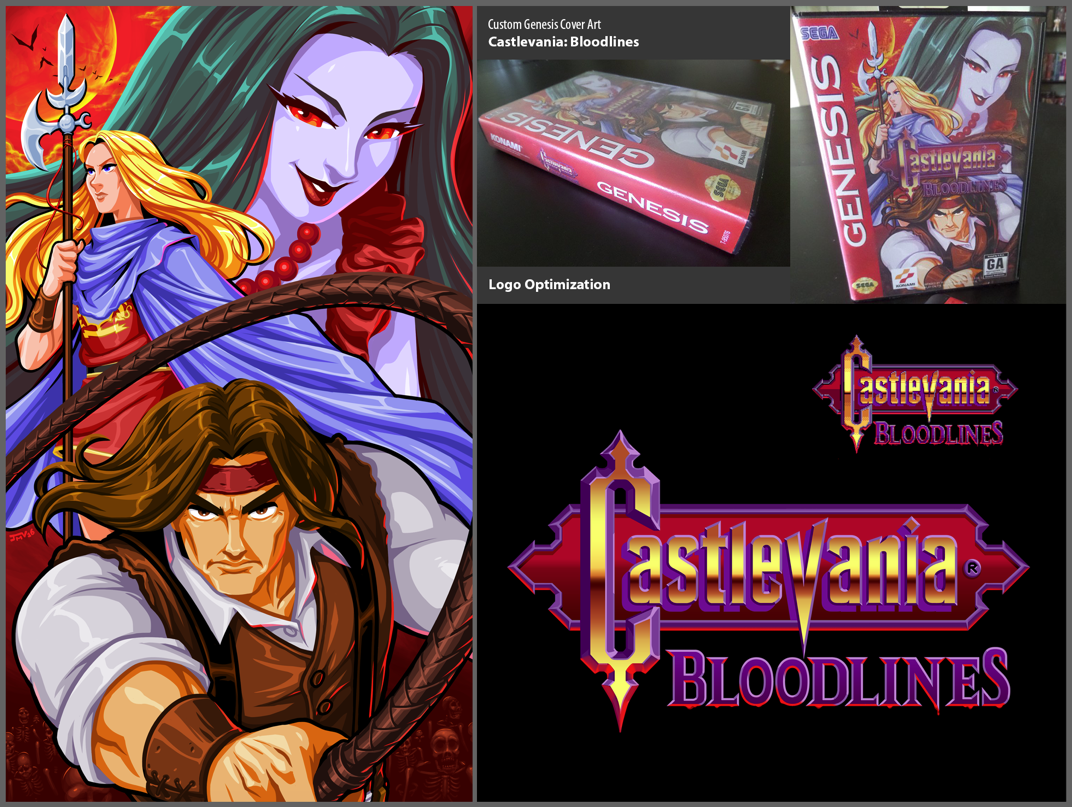 Castlevania Bloodlines Custom Genesis Cover