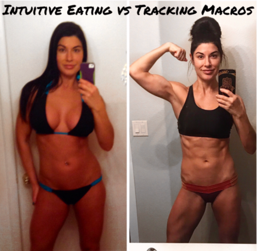 """From 150lb as a """"clean eater"""" who binged on the weekends to now, maintaining a lean 135lb with more food freedom than ever tracking macros. Vegan in both pics."""