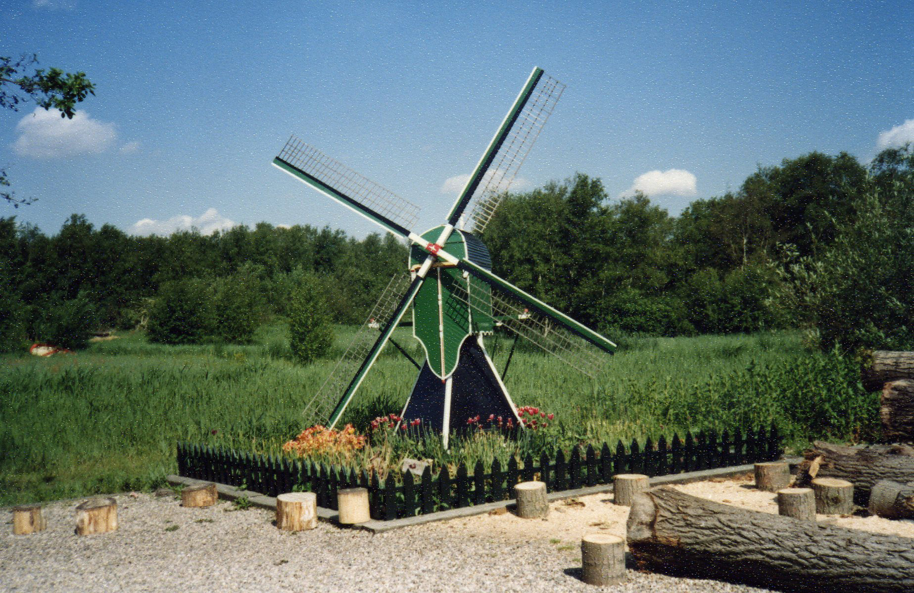 Miniature windmill at clog factory -