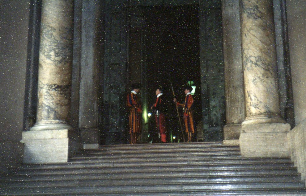 Guards in traditional costume -