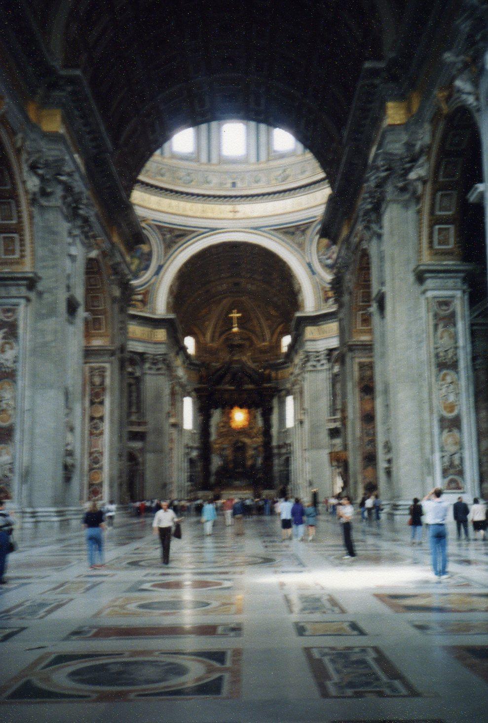 Inside St Peter's Basilica -