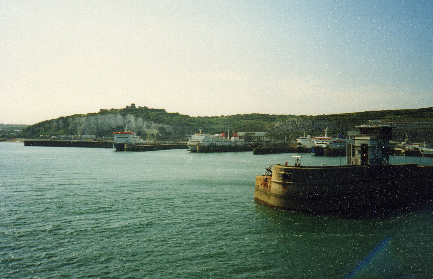 Entering Dover Harbour -