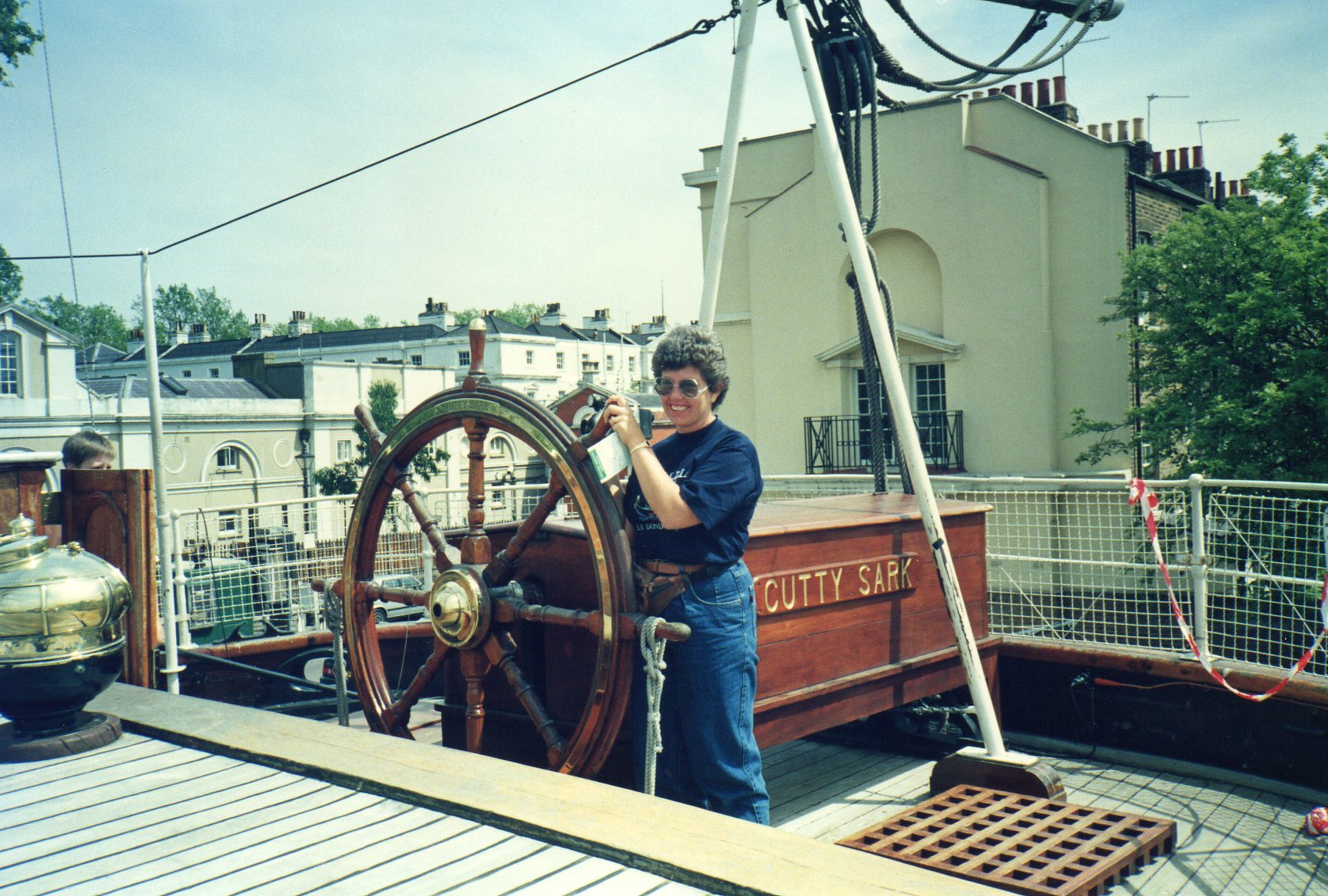 Captain at the helm -