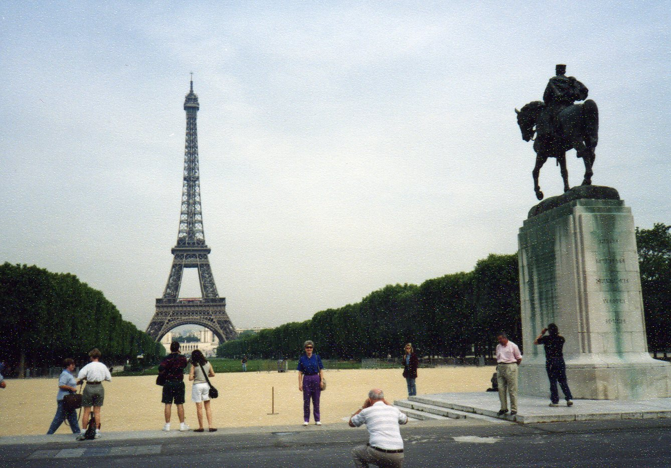 Tourists doing touristy things -