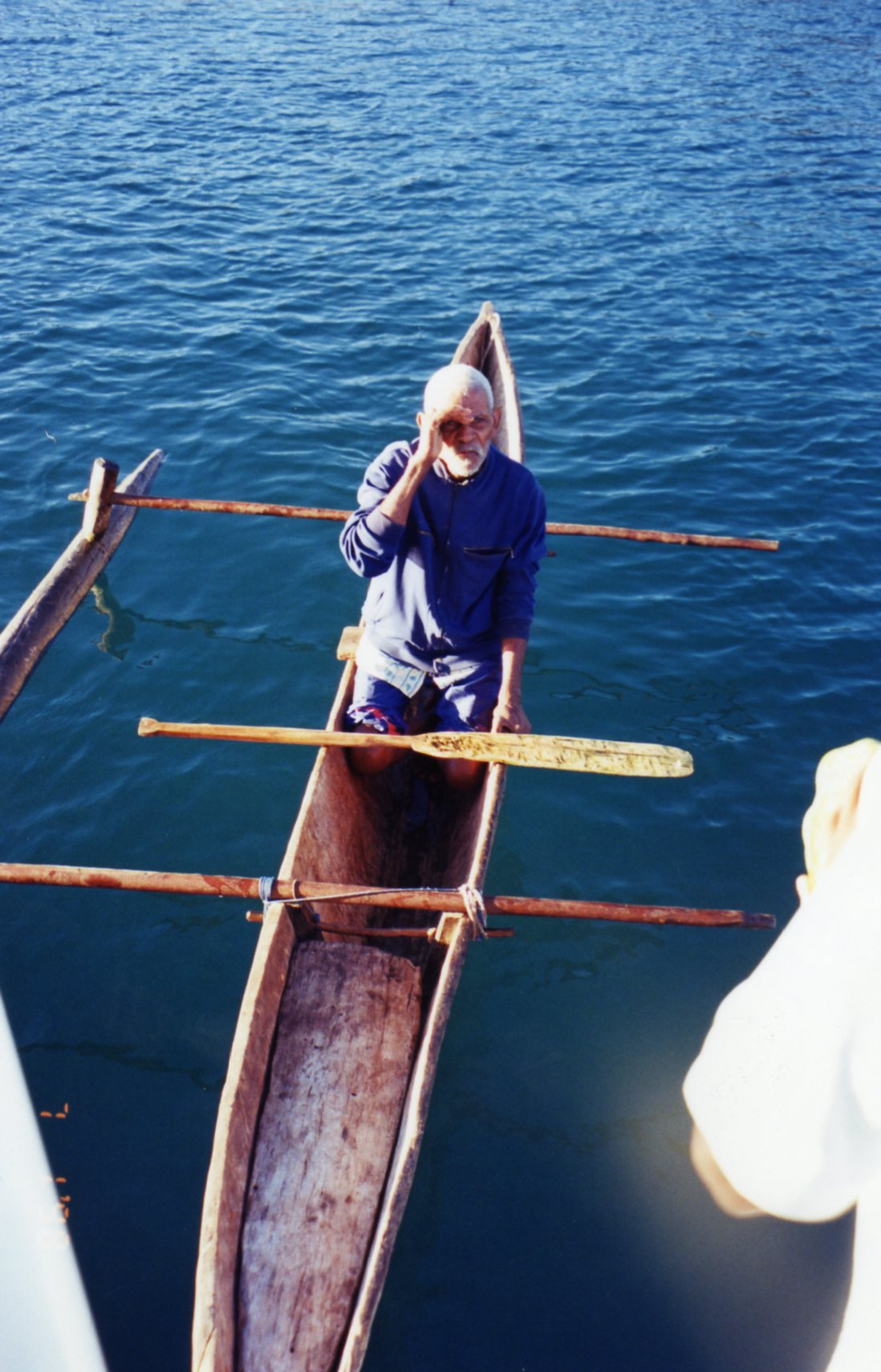 Visitor rowed to us asking for medicine for his sore tooth