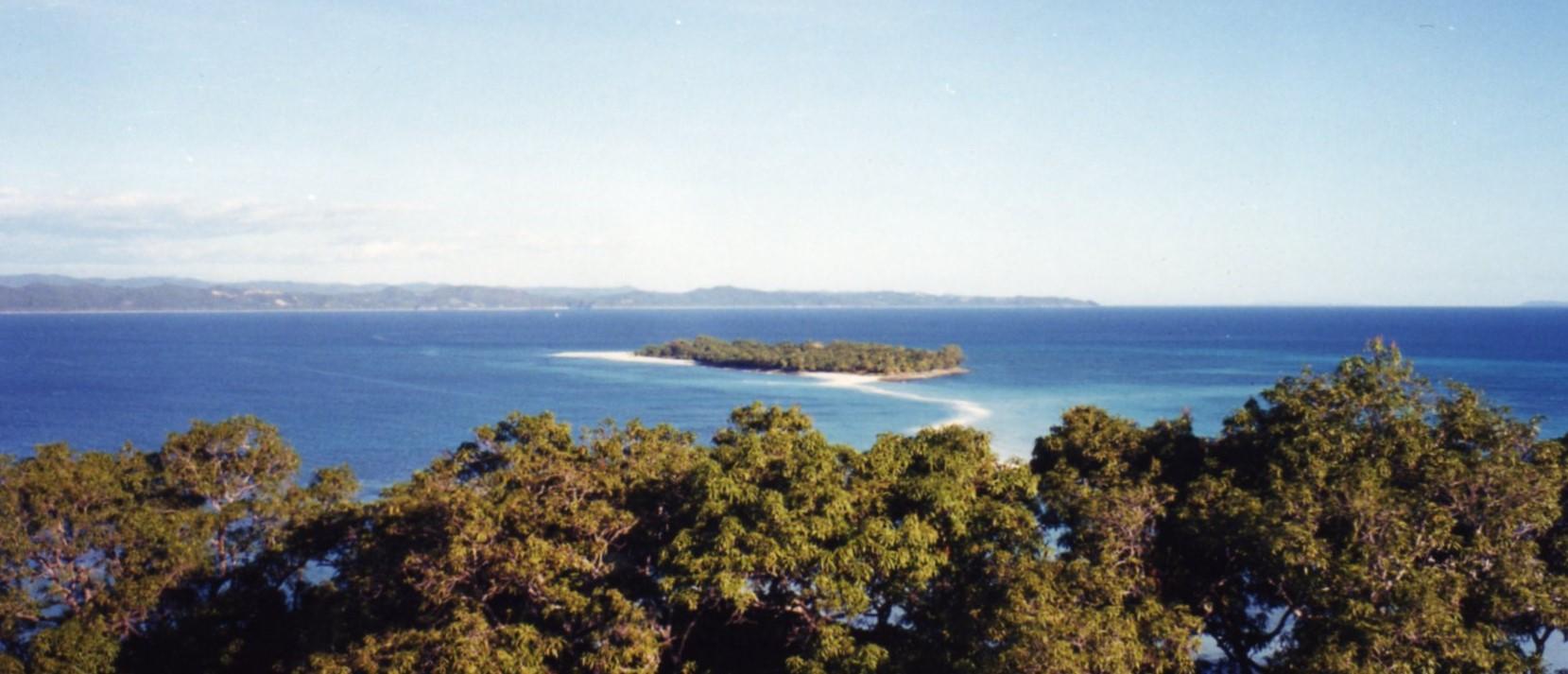 Sandbar between the two islands