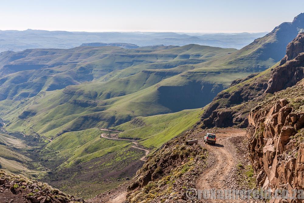 Driving Sani Pass, Lesotho