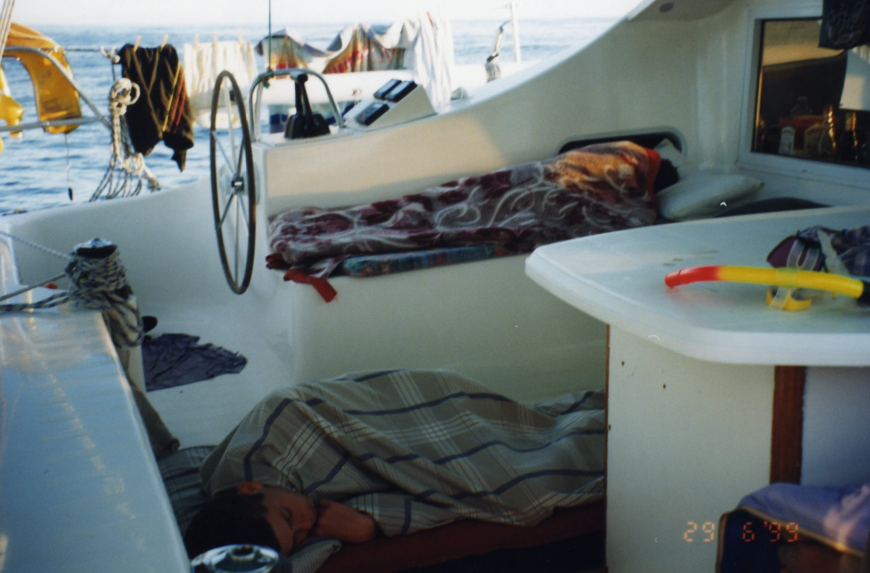 Sleeping on deck Grand Comore